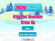 Play Kids and snowman dress up