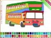 Play Double decker bus coloring