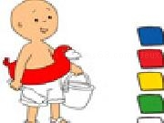 Play Caillou paint