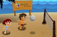 Play Olympic beach volleyball now