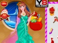 Play Barbie's christmas with kids