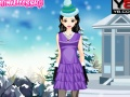 Play Cute winter girly dressup