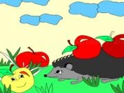 Play Kids coloring: delicious apples