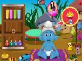 Play Smurfs baby bathing now