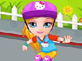 Play Baby barbie skateboard accident now
