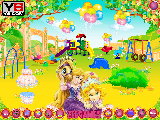 Play Baby rapunzel garden decoration now