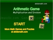 Artihmetic game - multiplication and division