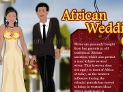 African wedding couple dress up