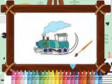 Play Trains for kids coloring