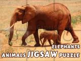 Play Animals jigsaw puzzle elephants now